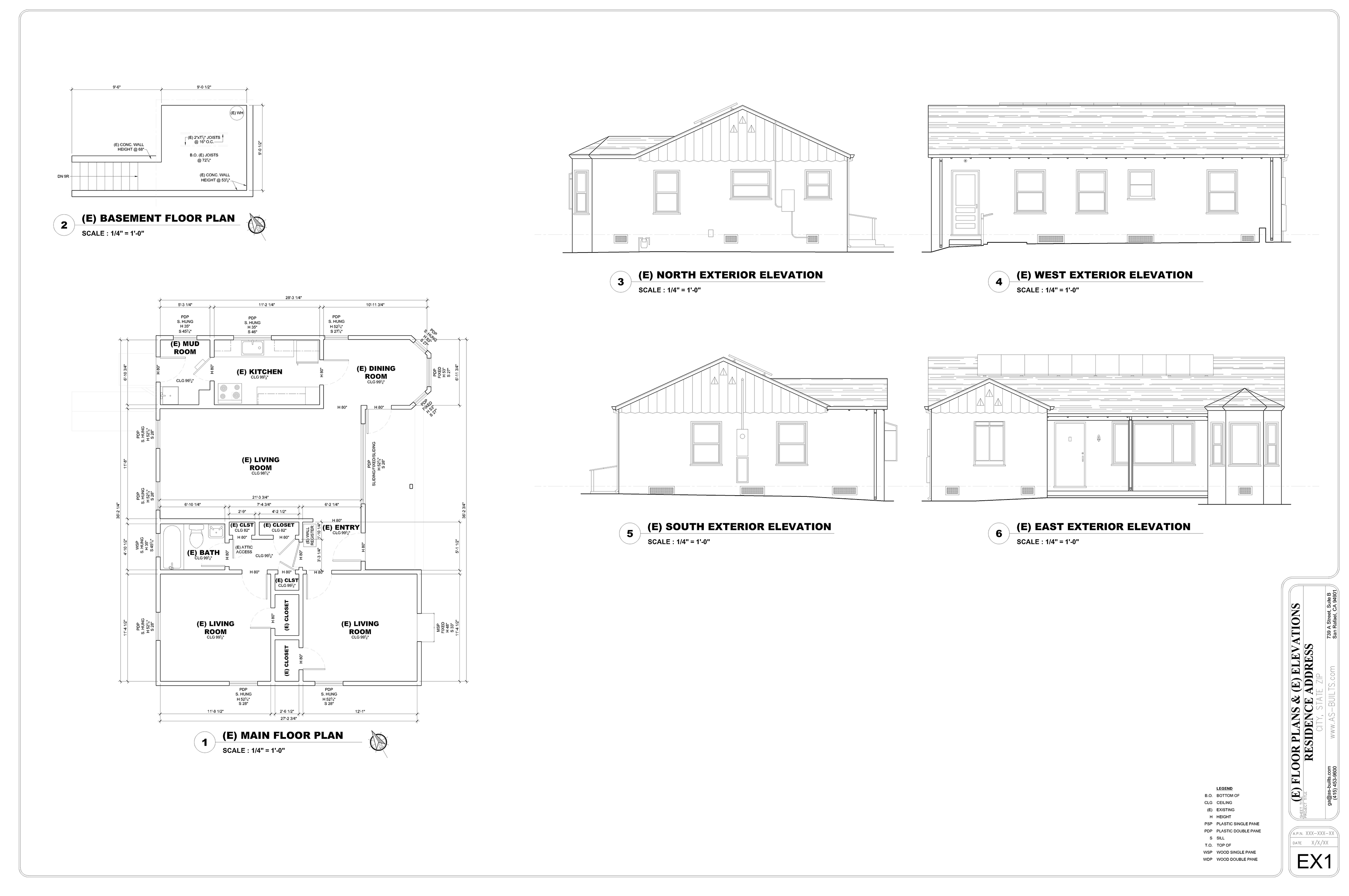 As builts existing conditions measured drawings 32 for Floor plans for existing homes